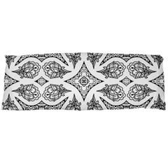Mandala Line Art Black And White Body Pillow Case (dakimakura)