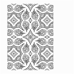 Mandala Line Art Black And White Small Garden Flag (two Sides)