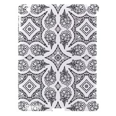 Mandala Line Art Black And White Apple Ipad 3/4 Hardshell Case (compatible With Smart Cover)