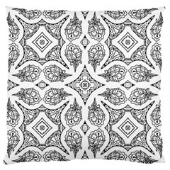 Mandala Line Art Black And White Large Cushion Case (Two Sides)