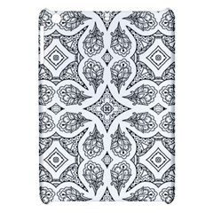 Mandala Line Art Black And White Apple iPad Mini Hardshell Case