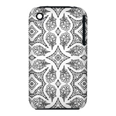 Mandala Line Art Black And White Iphone 3s/3gs