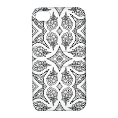 Mandala Line Art Black And White Apple Iphone 4/4s Hardshell Case With Stand