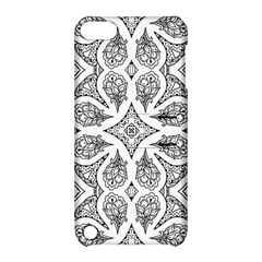 Mandala Line Art Black And White Apple Ipod Touch 5 Hardshell Case With Stand