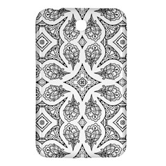 Mandala Line Art Black And White Samsung Galaxy Tab 3 (7 ) P3200 Hardshell Case