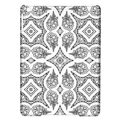 Mandala Line Art Black And White Ipad Air Hardshell Cases