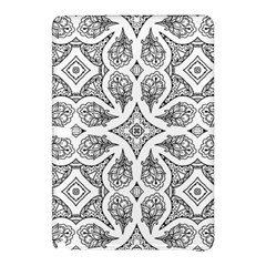 Mandala Line Art Black And White Samsung Galaxy Tab Pro 10 1 Hardshell Case