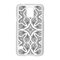 Mandala Line Art Black And White Samsung Galaxy S5 Case (white)