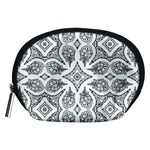 Mandala Line Art Black And White Accessory Pouches (Medium)  Front