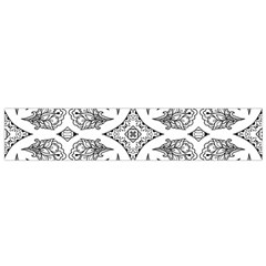 Mandala Line Art Black And White Flano Scarf (small)