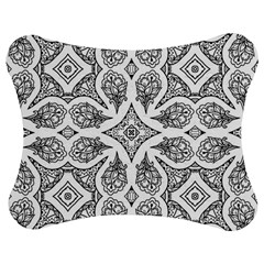 Mandala Line Art Black And White Jigsaw Puzzle Photo Stand (bow)