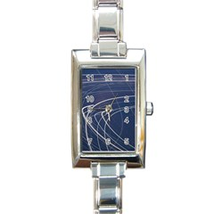 Light Movement Pattern Abstract Rectangle Italian Charm Watch