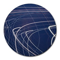 Light Movement Pattern Abstract Round Mousepads