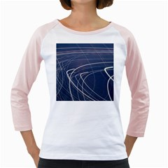 Light Movement Pattern Abstract Girly Raglans