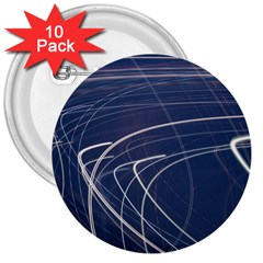 Light Movement Pattern Abstract 3  Buttons (10 Pack)