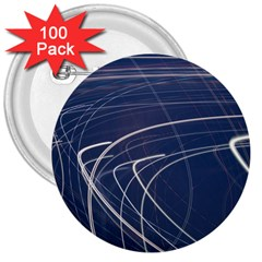 Light Movement Pattern Abstract 3  Buttons (100 Pack)