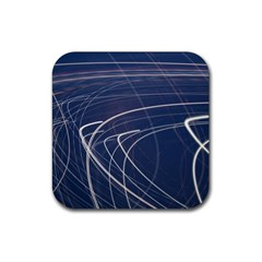 Light Movement Pattern Abstract Rubber Square Coaster (4 Pack)
