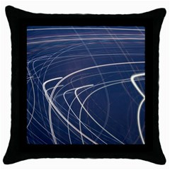 Light Movement Pattern Abstract Throw Pillow Case (black)