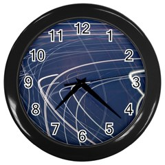 Light Movement Pattern Abstract Wall Clocks (black)