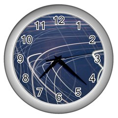 Light Movement Pattern Abstract Wall Clocks (silver)
