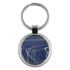 Light Movement Pattern Abstract Key Chains (round)