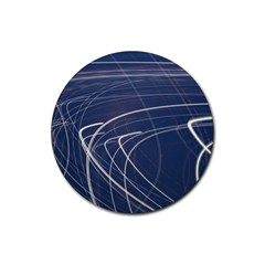 Light Movement Pattern Abstract Rubber Round Coaster (4 Pack)