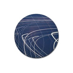 Light Movement Pattern Abstract Magnet 3  (round)