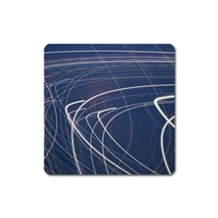 Light Movement Pattern Abstract Square Magnet