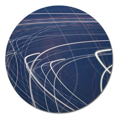 Light Movement Pattern Abstract Magnet 5  (round)