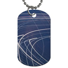 Light Movement Pattern Abstract Dog Tag (One Side)