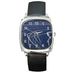 Light Movement Pattern Abstract Square Metal Watch