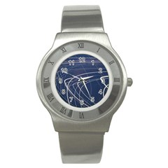 Light Movement Pattern Abstract Stainless Steel Watch