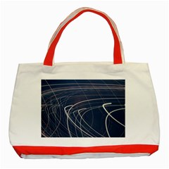 Light Movement Pattern Abstract Classic Tote Bag (red)