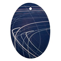 Light Movement Pattern Abstract Oval Ornament (Two Sides)