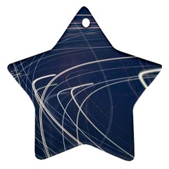 Light Movement Pattern Abstract Star Ornament (two Sides)