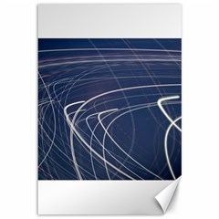 Light Movement Pattern Abstract Canvas 12  X 18