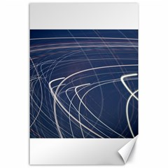 Light Movement Pattern Abstract Canvas 24  X 36