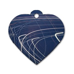 Light Movement Pattern Abstract Dog Tag Heart (two Sides)