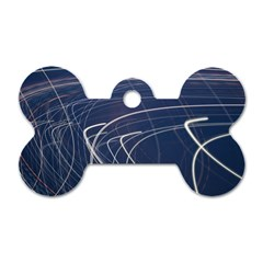 Light Movement Pattern Abstract Dog Tag Bone (two Sides)