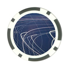 Light Movement Pattern Abstract Poker Chip Card Guard