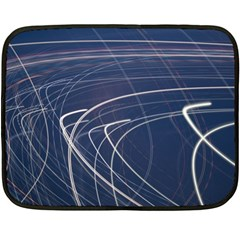 Light Movement Pattern Abstract Double Sided Fleece Blanket (mini)