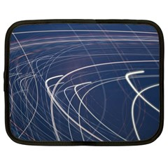 Light Movement Pattern Abstract Netbook Case (xl)