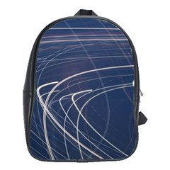 Light Movement Pattern Abstract School Bags(large)