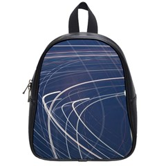 Light Movement Pattern Abstract School Bags (small)