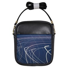 Light Movement Pattern Abstract Girls Sling Bags