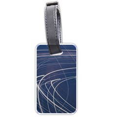 Light Movement Pattern Abstract Luggage Tags (one Side)
