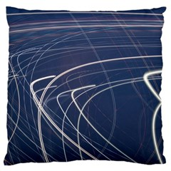 Light Movement Pattern Abstract Large Cushion Case (two Sides)