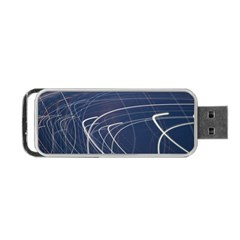 Light Movement Pattern Abstract Portable Usb Flash (two Sides)