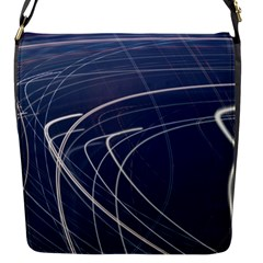 Light Movement Pattern Abstract Flap Messenger Bag (s)