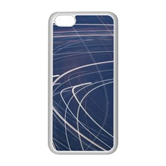 Light Movement Pattern Abstract Apple Iphone 5c Seamless Case (white)